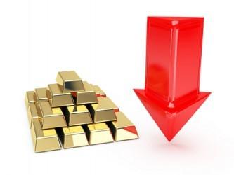 La quotazione dell'oro affonda al di sotto di $1.700