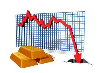 La quotazione dell'oro precipita ai minimi da più di cinque anni