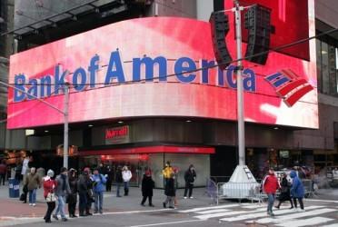 Bank of America annuncia risultati in calo, pesano i bassi tassi