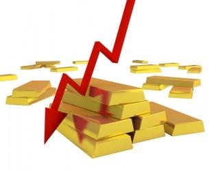 Il prezzo dell'oro affonda, pesa aumento tendenza al rischio