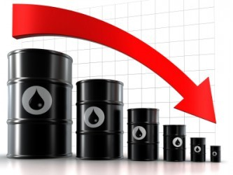 Quotazione petrolio in deciso ribasso, Brent sotto 45 dollari