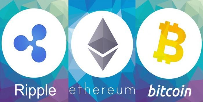 Ripple, Ethereum e Bitcoin: valori