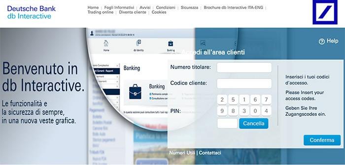 DB Interactive Deutsche Bank: cosa è come funziona piattaforma online banking
