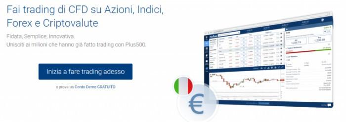 Plus 500 opinioni e recensione: conto demo e piattaforma Forex CFD Trading