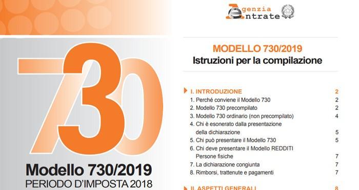 Modello 730/2019 rimborsi