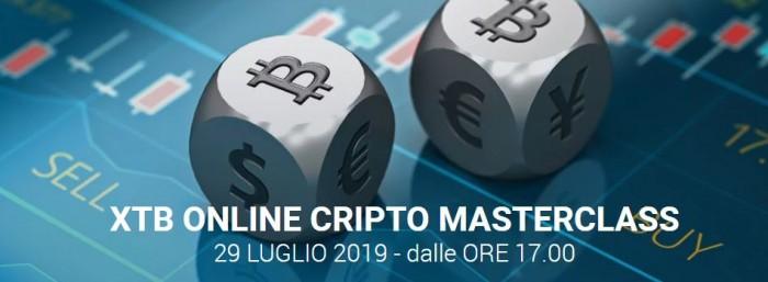 XTB Online Cripto MasterClass: webinar gratuito su news, educazione e strategie trading sulle criptovalute