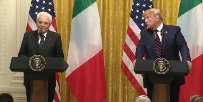 Mattarella alla Casa Bianca ed è subito scontro sui dazi sui prodotto europei