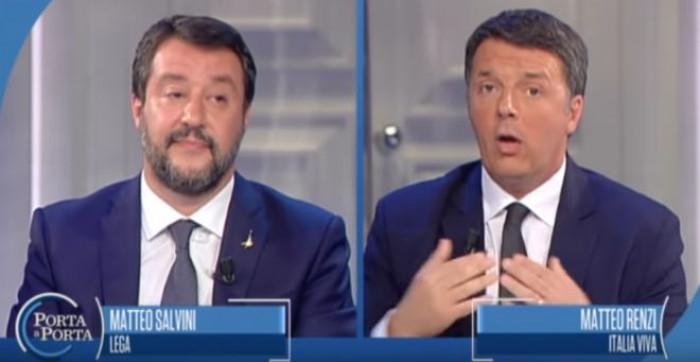 Sondaggi politici, grazie anche alla sfida in Tv crescono Lega e Italia Viva