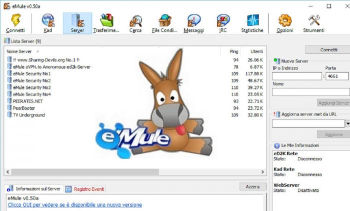 eMule si aggiorna dopo 10 anni