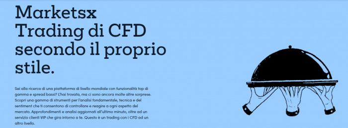 MarketsX: recensioni e opinioni piattaforma CFD Trading