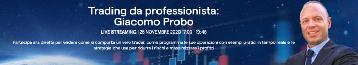 Trading online: IG Italia presenta evento Trading da Professionista con Giacomo Probo