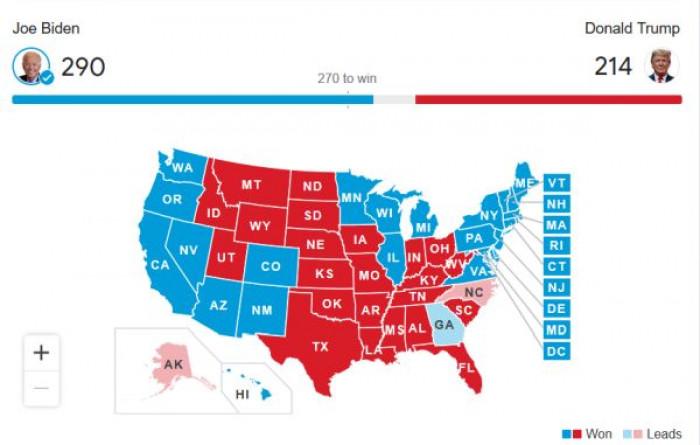 Joe Biden vince le elezioni: con la conquista della Pennsylvania diventa il nuovo presidente Usa