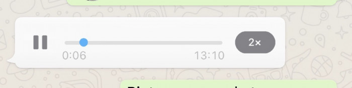 WhatsApp: arrivano i messaggi vocali velocizzati a 2X