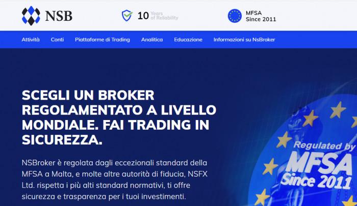 NSBroker recensione e opinioni: non solo Forex ma piattaforma CFD completa