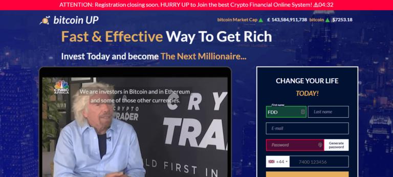 Bitcoin Up Recensione è legale o è una truffa? Iscriviti ora!